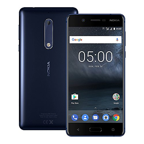 "Nokia 5 TA-1053 16GB, Dual Sim, 5.2"", Factory Unlocked International Model, No Warranty - GSM ONLY, NO CDMA (Blue)"