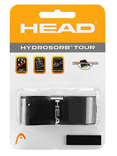Head HydroSorb Tour Replacement Grip, Black - 1 Pack