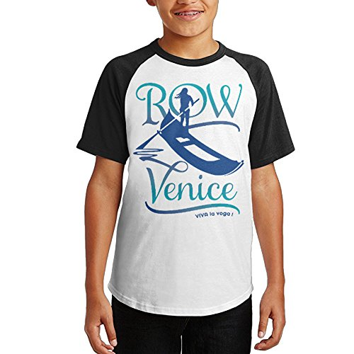 Oxinqufng Row Venice Youth T Shirt Casual Short Sleeved Shirt S