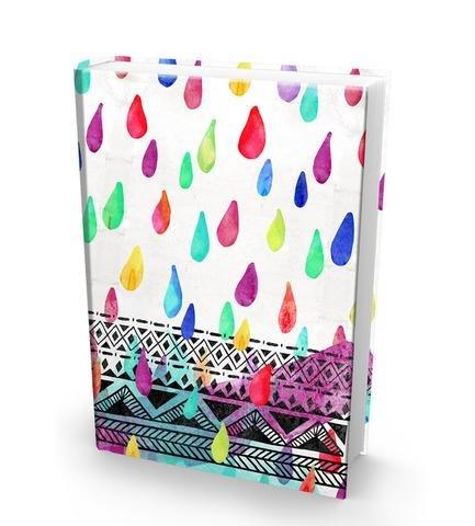 (The Original Book Sox - Watercolor Raindrops)