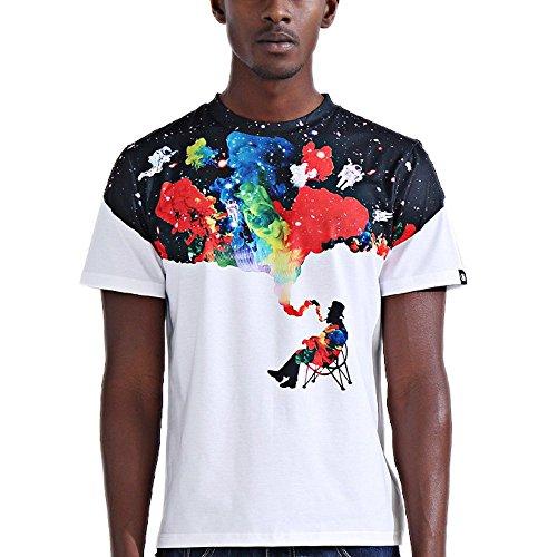 katomi Herren Kurzärmliges Shirt 3D-Druck Kurzarm T-Shirt Modische Colorful