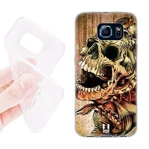 Hot Head Case Designs Piranha Hydro Skulls Soft Gel Back Case Cover for Samsung Galaxy S6 G920, Galaxy S6 Duos 3902199M59205503