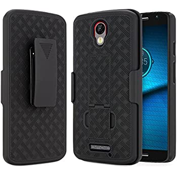 Droid Turbo 2 Case (Verizon), NageBee Combo Shell & Holster Case Super Slim