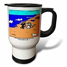 tm_2891_1 Londons Times Funny Cat Cartoons - Cat Discovers Worlds Largest Litter Box - Travel Mug - 14oz Stainless Steel Travel Mug