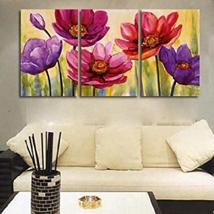 3 piece canvas art easy diy 100 hand painted oil painting piece canvas art modern wall deco home amazoncom