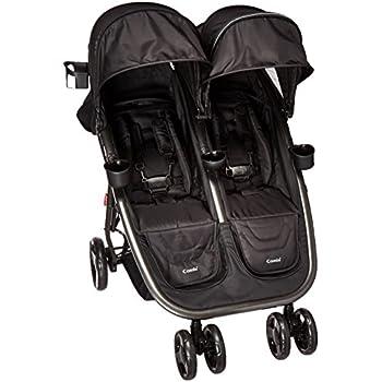 Combi Fold N Go Double Stroller, Black