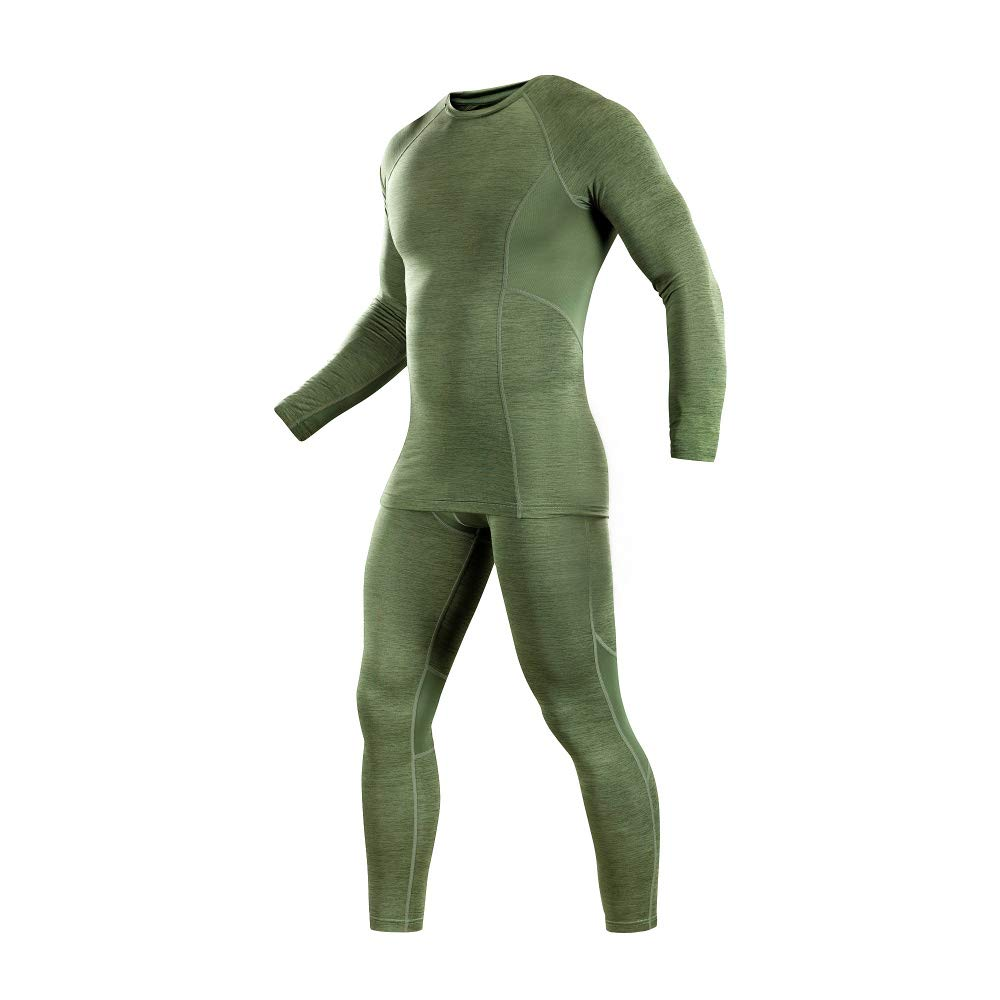 M-Tac Mens Base Layer Underwear Set All Seasons Lvl 1 (Olive, Large) by M-Tac