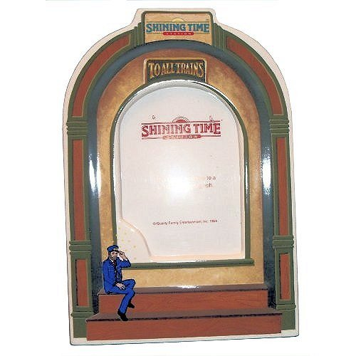 F.X. Schmid Thomas Shining Time Station Porcelain Single Picture Frame 42051 Holds 3.5x5 Photo ()