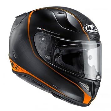 Casco de moto HJC RPHA 11 Riberte MC7SF, naranja, tamaño M