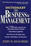Dictionary of Business and Management, Jerry M. Rosenberg, 0471545368