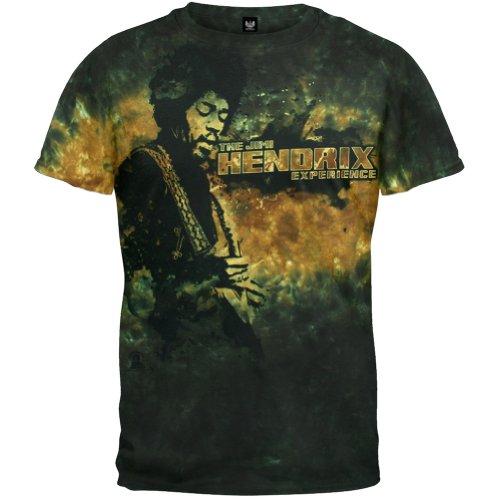 Jimi Hendrix - The Jimi Hendrix Experience Tie Dye T-Shirt - 2X-Large - Dark Green