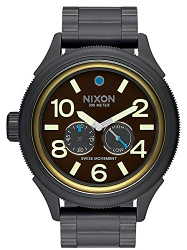 Black/Brass/Brown The October Tide Watch by Nixon