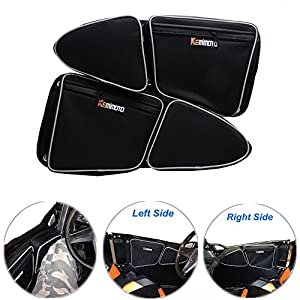 KEMIMOTO Side Door Bags for Polaris RZR XP 1000 900XC S900 Passenger And Driver Side Storage Bag with Knee Protection