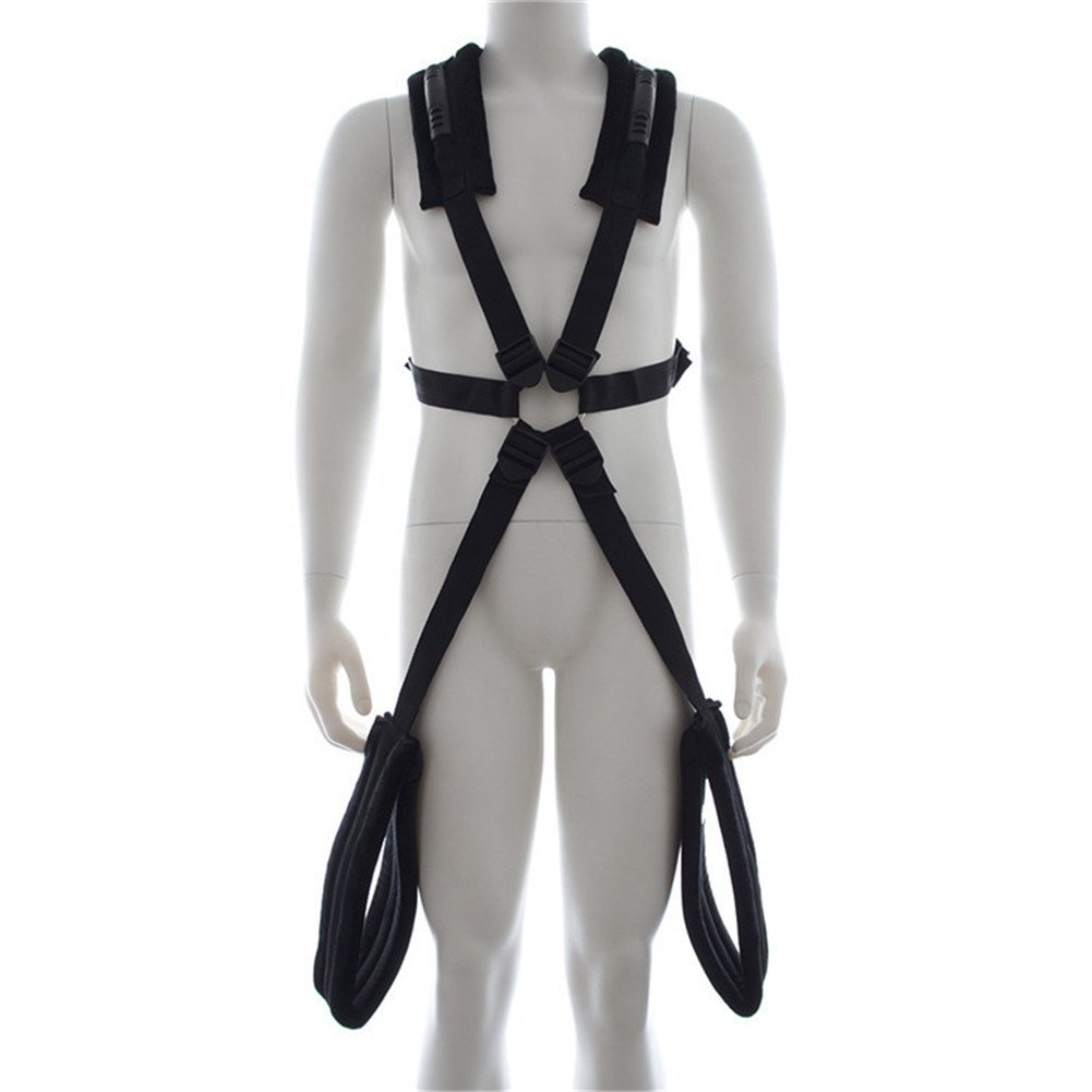 Bedmate Sex Body Swing Harness with Handlebar Thigh Cuffs Adult Game Positions Toy