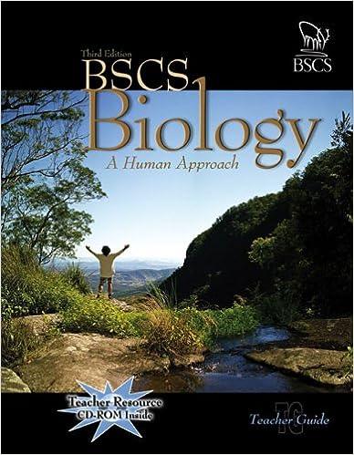 Amazon com: BSCS Biology: A Human Approach (9780757512513