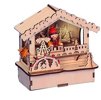 Amazon.de: Unbekannt Weihnachtsdeko Holzhütte Weihnachtsmarkt aus