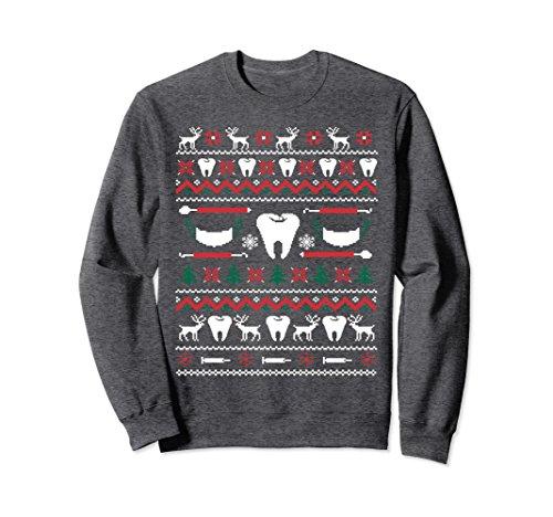 Unisex Dental Hygienist Ugly Christmas Sweater Xmas Small Dark Heather