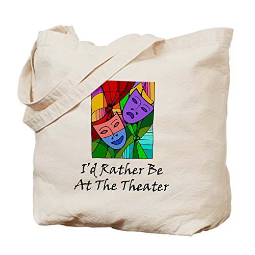 CafePress - Theater - Natural Canvas Tote Bag, Cloth Shopping - The Stores At Beach Broadway