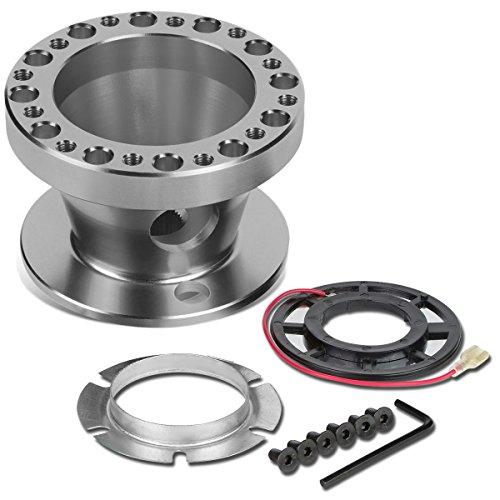 Steering Wheel Clock Spring - Aluminum Steering Wheel 6-Hole Hub Adaptor Kit (Silver) For Miata / RX7 / RX8 / Protege