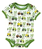 Stephan Baby Snapshirt-Style Down on the Farm Tractor Diaper Cover, Green/White/Yellow, 3-6 Months
