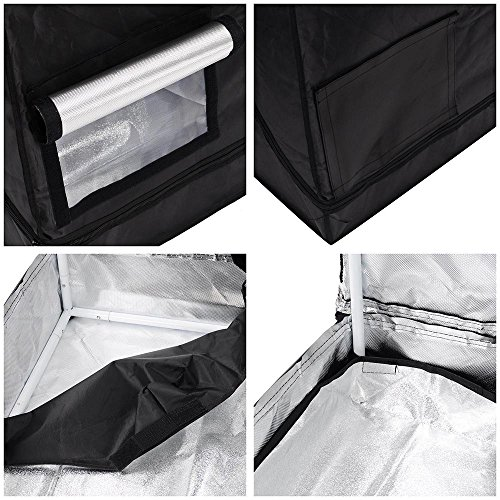 519MF1nfFcL - LAGarden 2in1 Hydroponics Indoor Grow Tent Growing Planting Room Propagation and Flower Sections