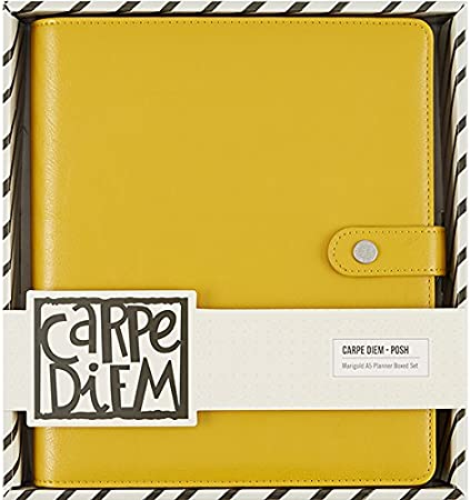 Simple Stories Carpe Diem Marigold Cuaderno planificador en Caja, Juego, Amarillo, A5