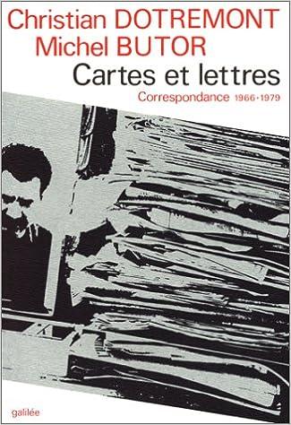 Télécharger en ligne Cartes et lettres : Correspondance 1966-1979 epub, pdf