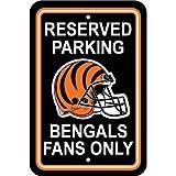 Fremont Die NFL Cincinnati Bengals Plastic Parking Sign