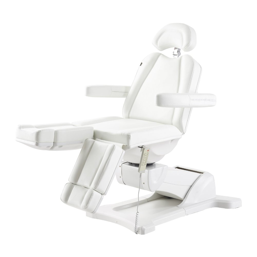 Beauty Full Electrical 5 Motor Podiatry Chair Facial Massage Dental Aesthetic Reclining Chair All Purpose Bed with Split Leg – Libra White