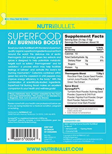 NutriBullet Superfood Fat Burning Boost, 4 Ounce