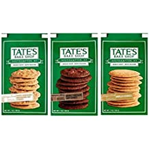 Tate's Bake Shop Deeply Delicious Cookies 3 Flavor Variety Bundle: (1) Tate's White Chocolate Macadamia Nut Cookies, (1) Tate's Double Chocolate Chip Cookies, and (1) Tate's Vanilla Cookies, 7 Oz Ea