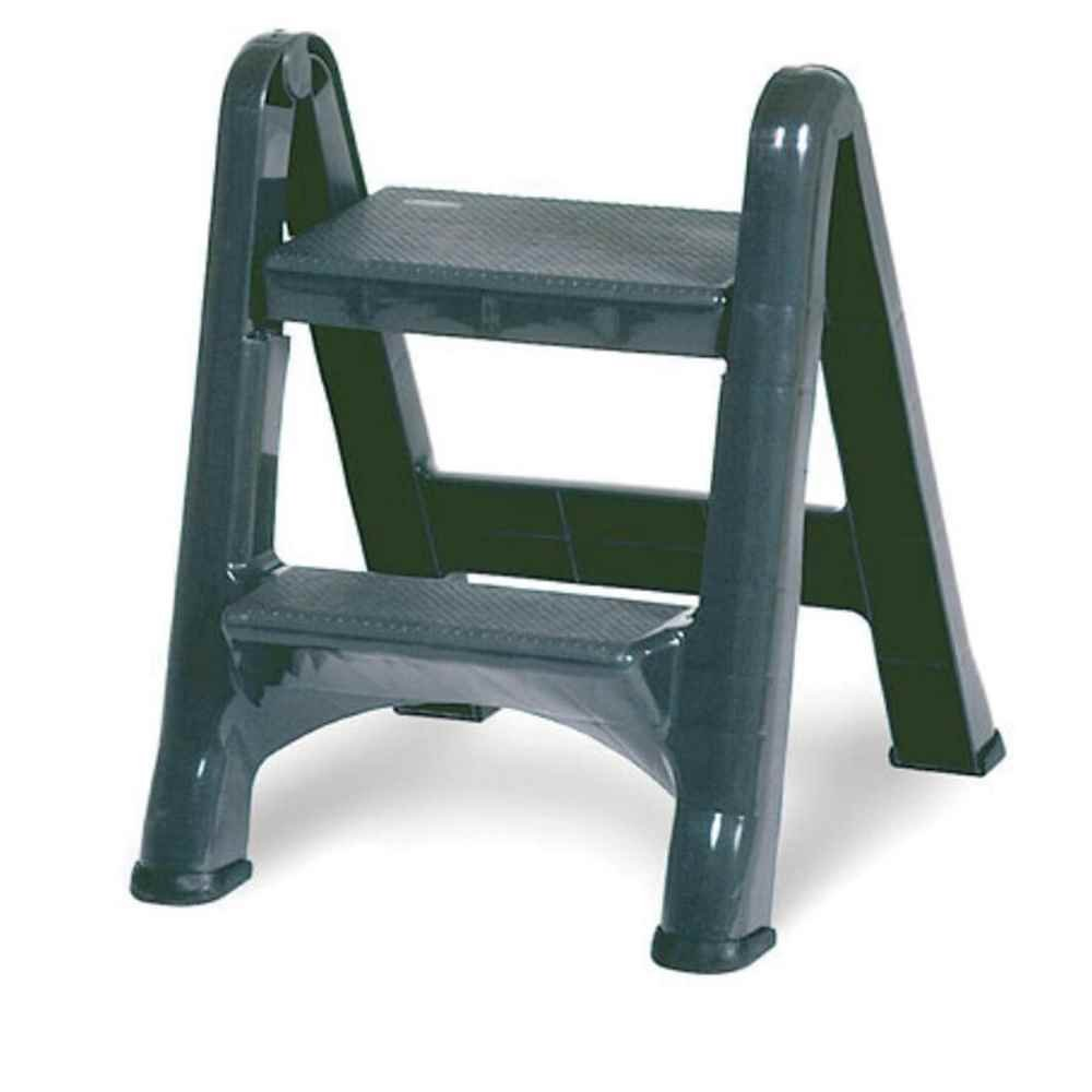 Rubbermaid Commercial 4209 EZ Step Folding Stool, 2-Step, Gray