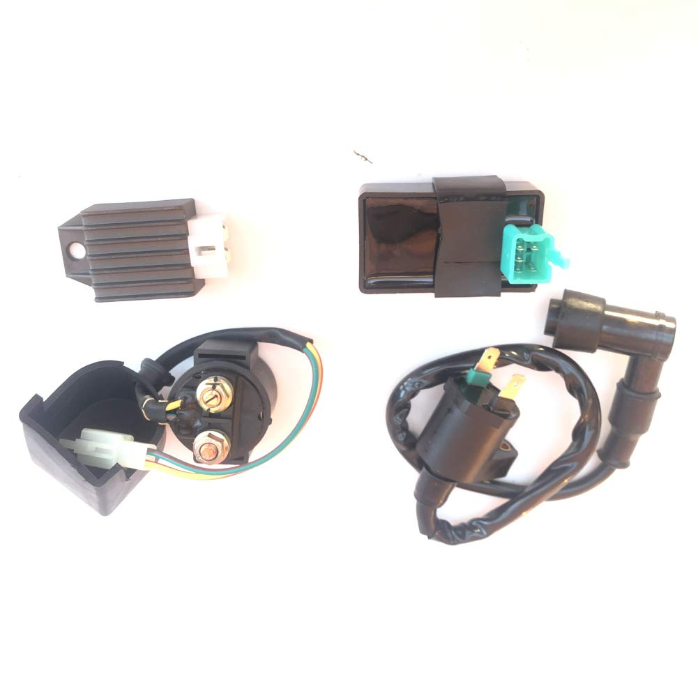 AH Ignition Coil Solenoid Relay Voltage Regulator CDI for 50cc 90cc 110cc 125cc Taotao Scooter ATV Dirt Bike and Go Kart by AH