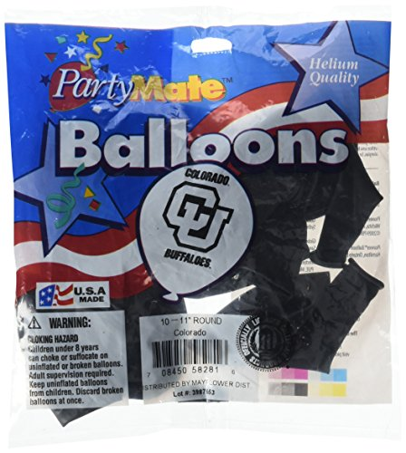 Pioneer Balloon Company 10 Count University of Colorado Latex Balloon, 11