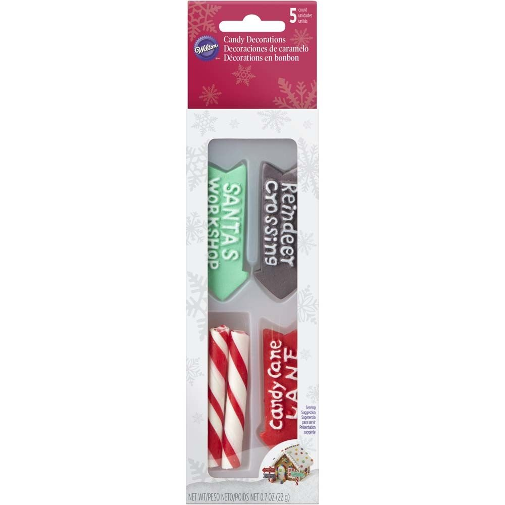 Wilton 710-5812 Candy Cane Pole and Signs