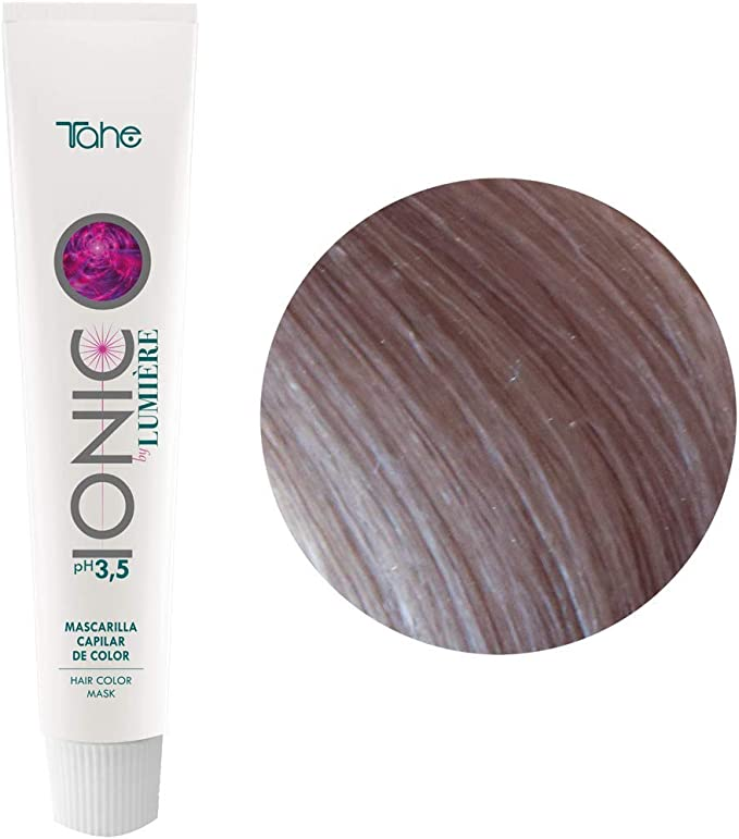 Tahe Ionic Lumière Mascarilla Capilar/Mascarilla de Color de PH de 3,5 Ácido, sin Parebenos. Altamente Nutriente e Hidratante, Rubio Perla, 100 ml