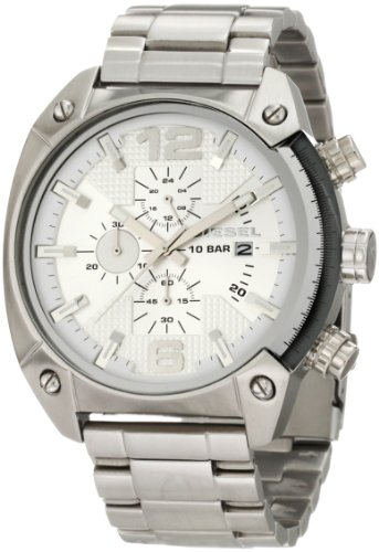 Diesel Stainless Steel Silver Dial Chronograph Men's Watch DZ4203 -
