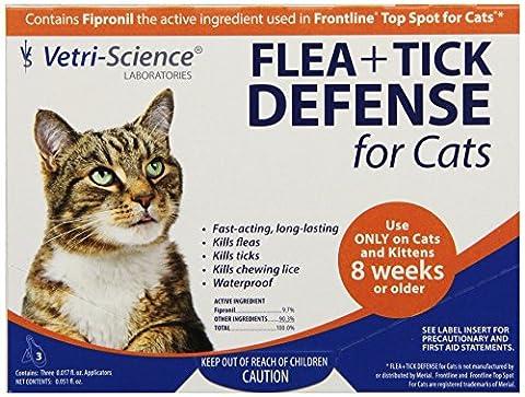 Vetri-Science 3-Dose Flea and Tick Defense for Cats - Advantix Flea Treatment