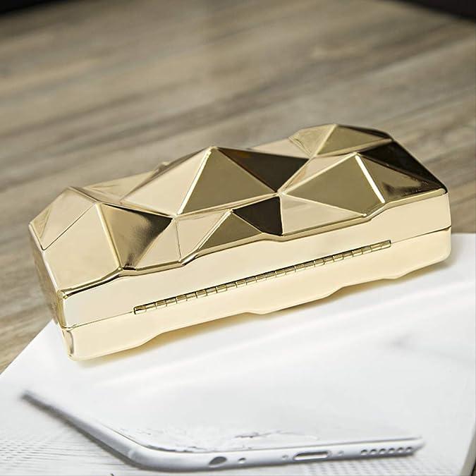 FMWLKJ Caja de acrílico dorado Bolso de noche geométrico