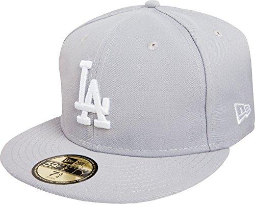 New Era Erwachsene Baseball Cap Mütze MLB Basic NY Yankees 59 Fifty Fitted, Grey/White, 7 1/4, 10003438