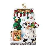 Christopher Radko Santa Bakery Santa Claus Christmas Ornament