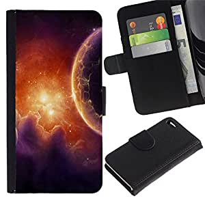 All Phone Most Case / Oferta Especial Cáscara Funda de cuero Monedero Cubierta de proteccion Caso / Wallet Case for Apple Iphone 4 / 4S // Space Planet Galaxy Stars 38