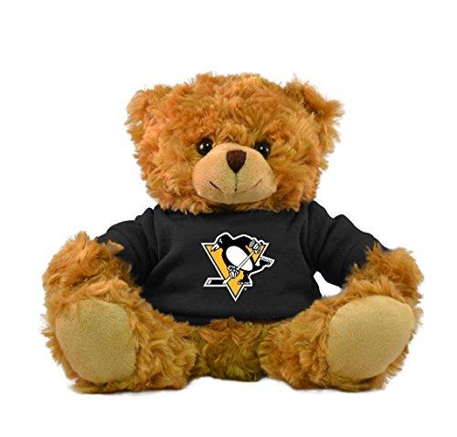"""NHL Pittsburgh Penguins Bear Hoodie Bear, 9"""", Brown"""