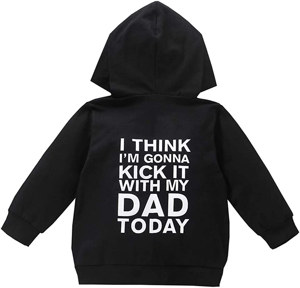 TFFR 1-6T Toddler Baby Boy Girl Hoodies Sweatshirt Daddy Mom Zipper Hooded Pullover Girls Boys Fall Winter Clothes Outfits