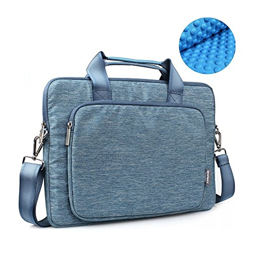 OneOdio 17.3 Inch Briefcase Messenger Shoulder Bag with Handle and Shoulder Strap Multi-functional Waterproof Carrying Case for Laptop/Notebook / MacBook/Ultrabook / Chromebook Computers (Blue) by OneOdio