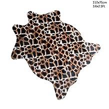 Giraffe Print Rug 3.6x2.5 Feet faux Giraffe hide rug Animal printed carpet for home Catchnew