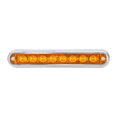 "GG Grand General 74770 LED Bar (6-1/2"" Pearl Amber 8 with Clear Plastic Base Mount): Automotive"
