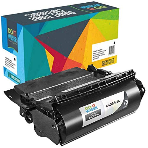 Do It Wiser Compatible Lexmark 64035HA High Yield Toner for Lexmark T640 T644 T642-21,000 Pages
