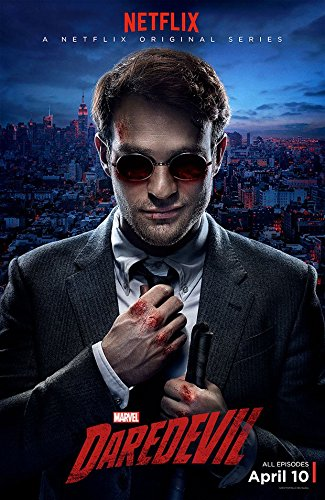 DAREDEVIL Charlie Cox as Matt Murdock with Bloody Knuckles 11 x 17 Poster Lithograph