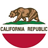 California State Flag 3×5-100% Made In USA using Tough, Long Lasting Nylon Built for Outdoor Use, UV Protected, Authentic Design, Superior Locked Stitches on Sides & Quadruple Stitching on Fly End